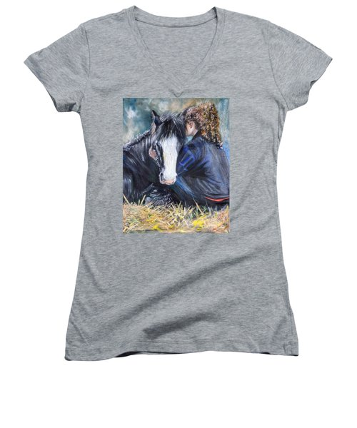 The Cuddle Women's V-Neck T-Shirt