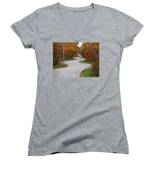 The Curvy Road Women's V-Neck