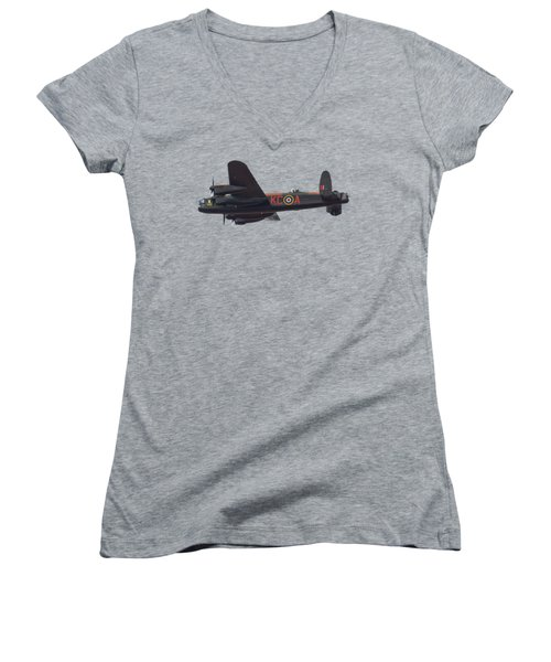 Women's V-Neck T-Shirt (Junior Cut) featuring the photograph The Dambuster by Scott Carruthers