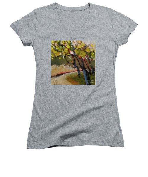 The Dance Abstract Tree Woods Forest Wild Nature Women's V-Neck