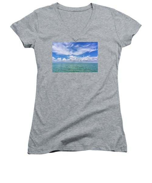 The Dance Of Clouds On The Sea Women's V-Neck (Athletic Fit)