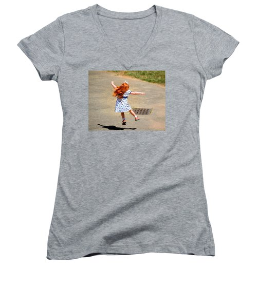 A Little Expression Women's V-Neck T-Shirt (Junior Cut) by Gary Smith