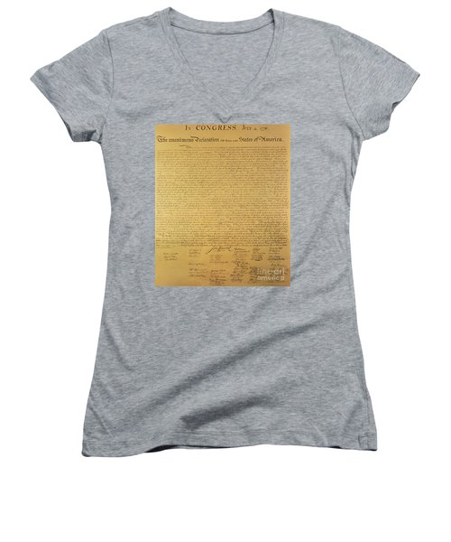 The Declaration Of Independence Women's V-Neck