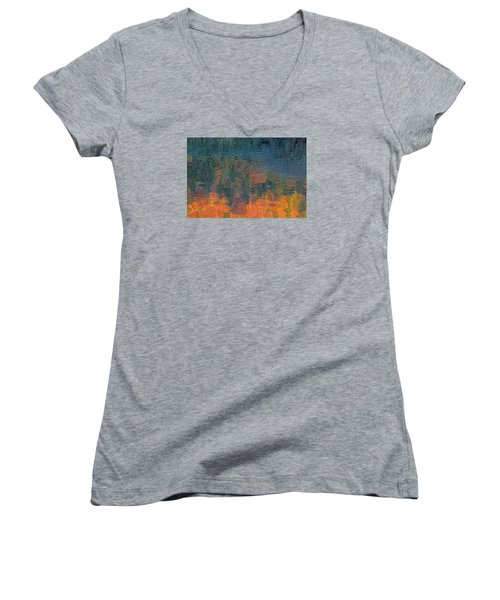 The Deep Women's V-Neck T-Shirt (Junior Cut) by Suzy Piatt