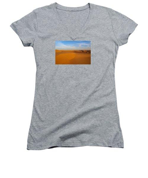 The Desert  Women's V-Neck T-Shirt (Junior Cut) by Jouko Lehto