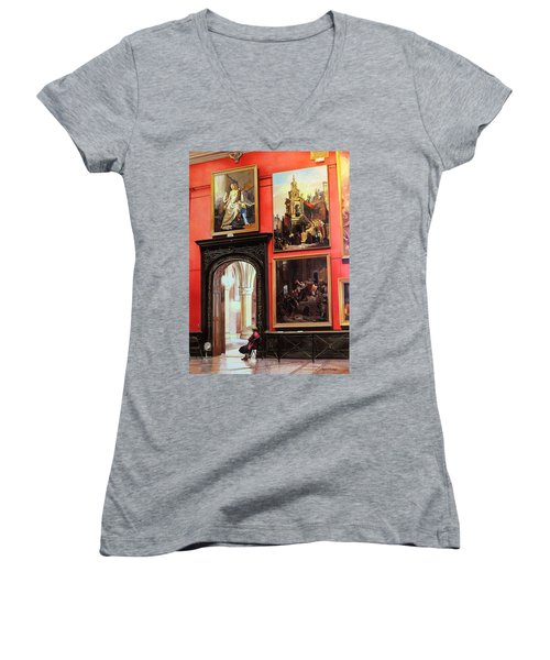 The Docent Women's V-Neck (Athletic Fit)