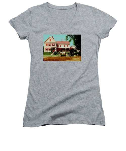 The Doctor Heads Out On A House Call Women's V-Neck (Athletic Fit)