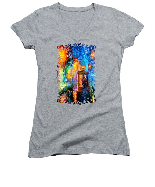 The Doctor Lost In Strange Town Women's V-Neck T-Shirt