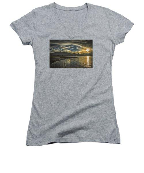 The Dog Days Of Summer Women's V-Neck T-Shirt (Junior Cut) by Mitch Shindelbower