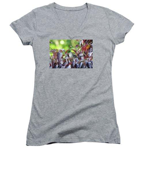 The Dogwood Diner Women's V-Neck T-Shirt (Junior Cut) by Trina Ansel