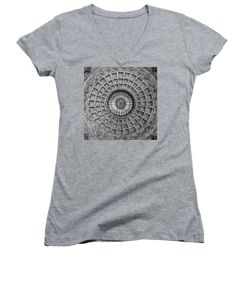 The Dome Bw  Women's V-Neck T-Shirt