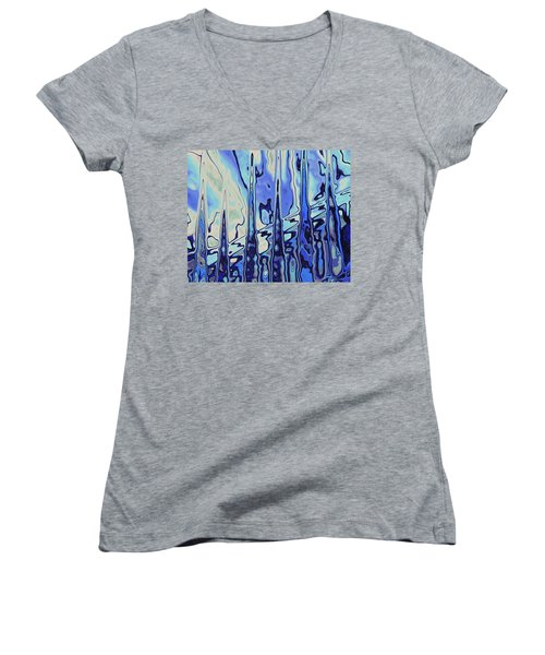 Women's V-Neck T-Shirt featuring the digital art The Drowsy Conversation by Wendy J St Christopher