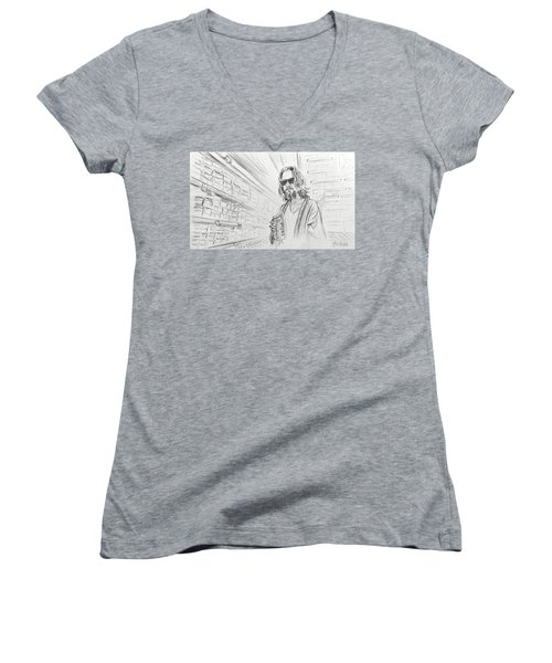 The Dude Abides Women's V-Neck (Athletic Fit)