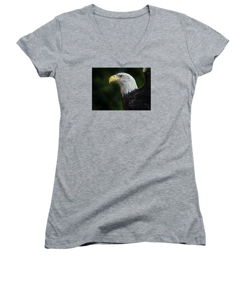 The Eagle Women's V-Neck T-Shirt (Junior Cut) by Greg Nyquist
