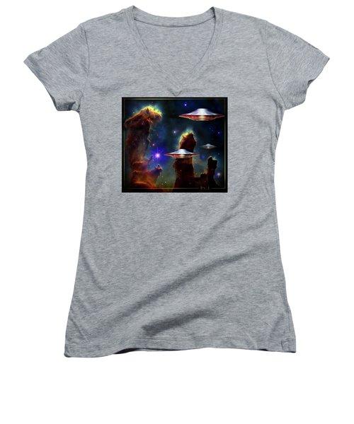 The  Eagle  Nebula  Women's V-Neck