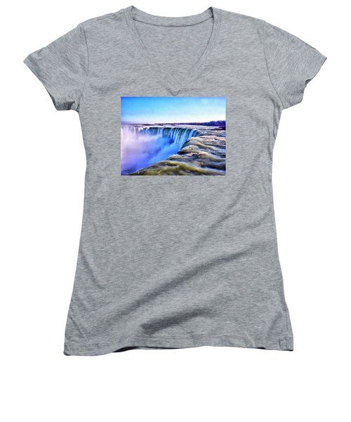 The Edge Of The World Women's V-Neck (Athletic Fit)