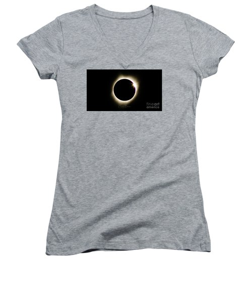 The Edge Of Totality 2 Women's V-Neck (Athletic Fit)