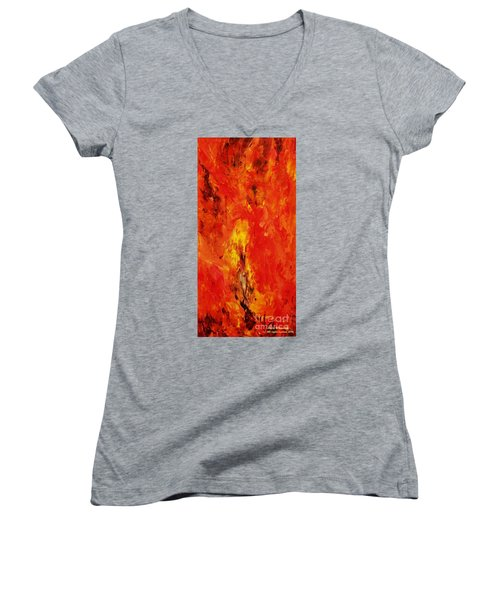 The Elements Fire #1 Women's V-Neck T-Shirt
