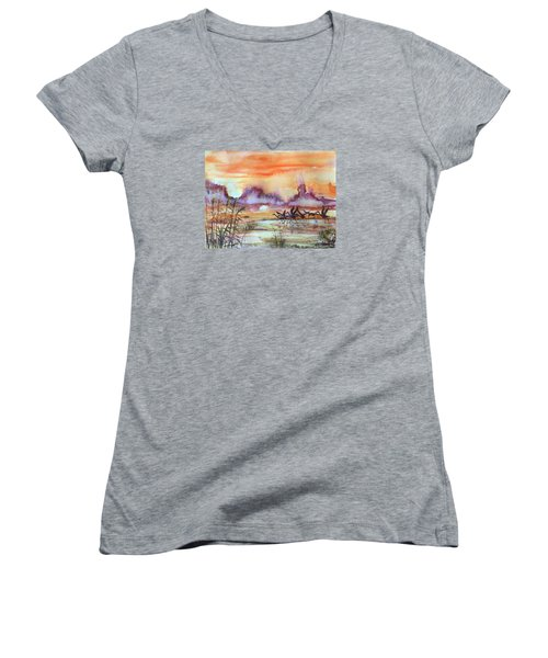 The End Of The Day 2 Women's V-Neck