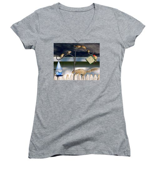 The Epitome Of Patience And Sharing Women's V-Neck T-Shirt