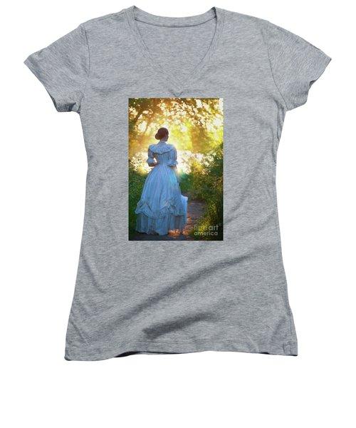 The Evening Walk Women's V-Neck T-Shirt