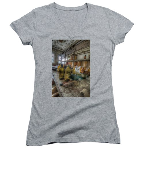 The Experiment  Women's V-Neck T-Shirt (Junior Cut) by Nathan Wright