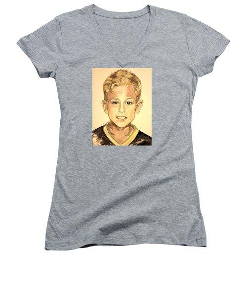 The Extrovert Women's V-Neck T-Shirt (Junior Cut) by Alexandria Weaselwise Busen