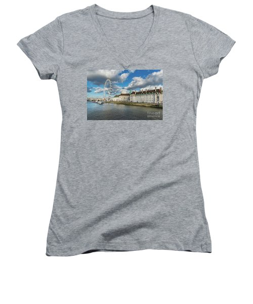 The Eye London Women's V-Neck T-Shirt (Junior Cut) by Adrian Evans