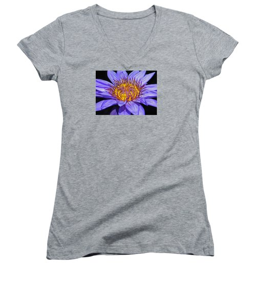 The Eye Of The Water Lily Women's V-Neck T-Shirt (Junior Cut) by Emmy Marie Vickers