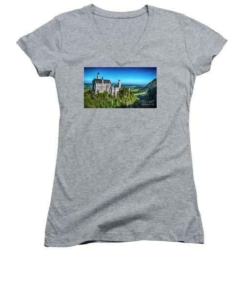 The Fairy Tale Castle Women's V-Neck T-Shirt