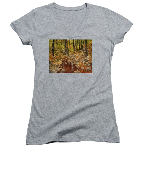 The Fall Stream Women's V-Neck T-Shirt