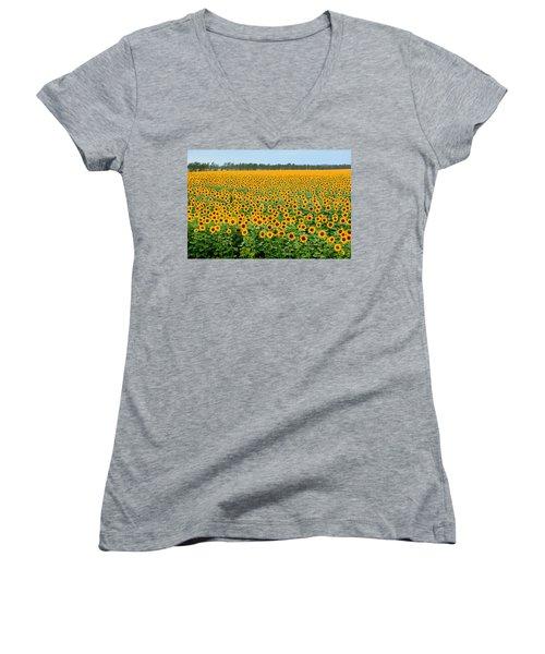 The Field Of Suns Women's V-Neck