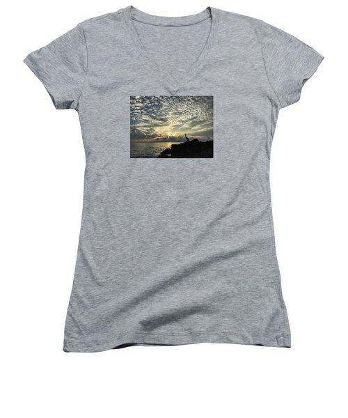 The Fisherman Women's V-Neck T-Shirt