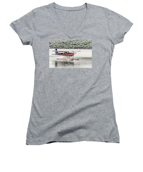 The Float Women's V-Neck T-Shirt (Junior Cut) by William Norton