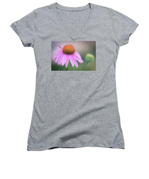 The Flower At Mattamuskeet Women's V-Neck T-Shirt