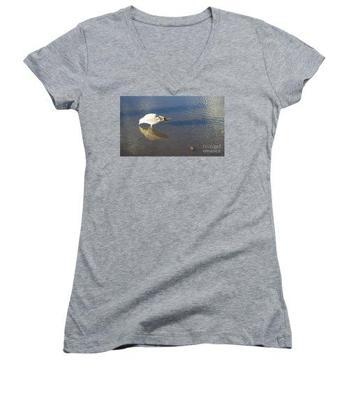 The Flying Narcissus Women's V-Neck T-Shirt