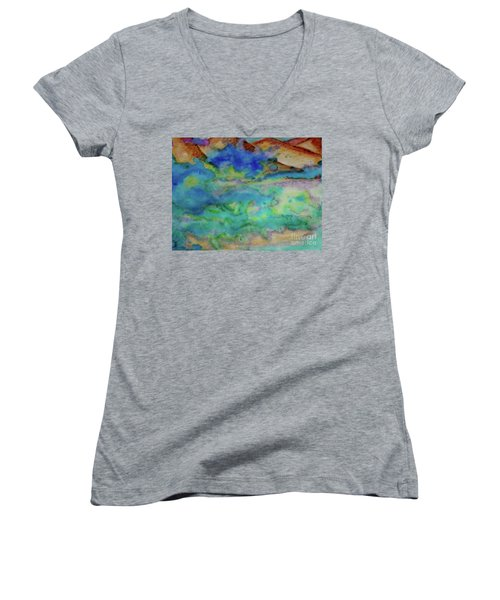 The Fog Rolls In Women's V-Neck (Athletic Fit)