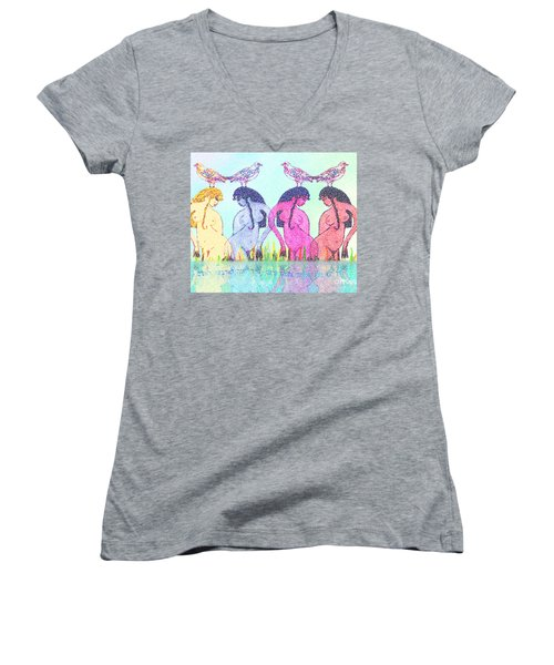 The Four Daughters Of Eve  -aka-  Four Rivers Women's V-Neck (Athletic Fit)