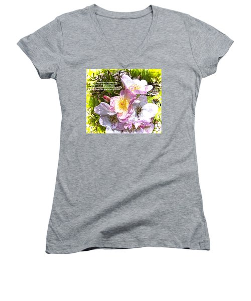 The Frailty Of Summer Roses And Of Love Women's V-Neck