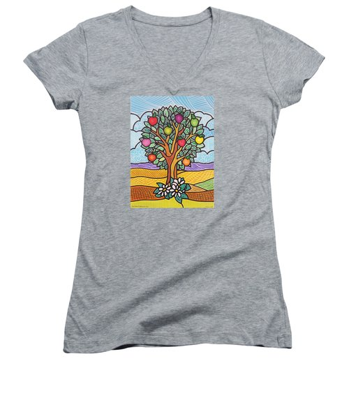 The Fruit Of The Spirit Tree Women's V-Neck (Athletic Fit)
