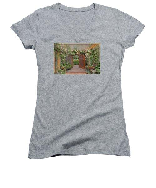 The Garden Door Women's V-Neck T-Shirt