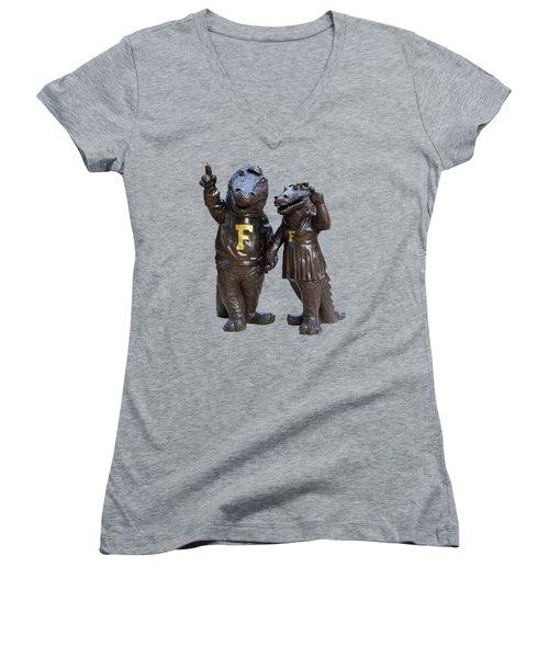 The Gators Transparent For T Shirts Women's V-Neck