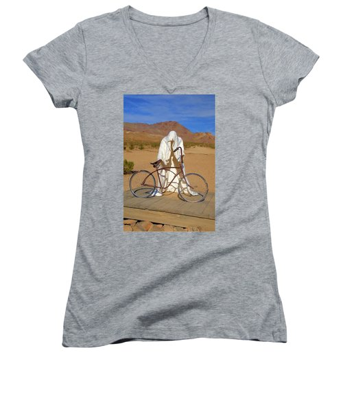 The Ghost Rider Women's V-Neck (Athletic Fit)