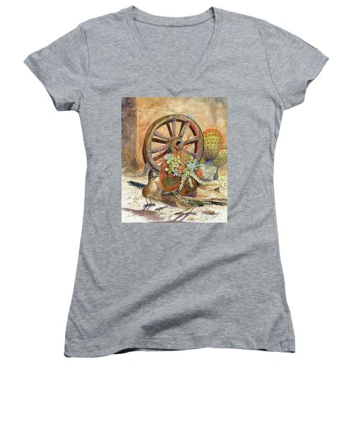 The Gift Women's V-Neck T-Shirt (Junior Cut) by Marilyn Smith