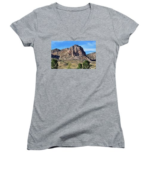The Glory Of Wyoming Women's V-Neck T-Shirt