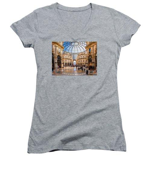 The Golden Hall Women's V-Neck T-Shirt (Junior Cut) by Giuseppe Torre