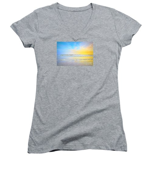 The Golden Hour Women's V-Neck T-Shirt (Junior Cut) by Shelia Kempf
