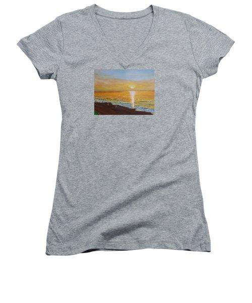 The Golden Ocean Women's V-Neck T-Shirt