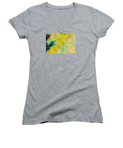 Women's V-Neck T-Shirt (Junior Cut) featuring the photograph The Good With The Bad by Lila Fisher-Wenzel