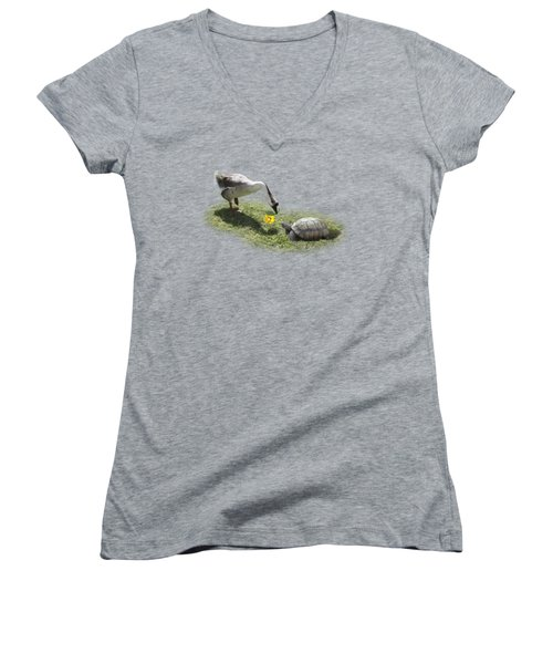 The Goose And The Turtle Women's V-Neck (Athletic Fit)